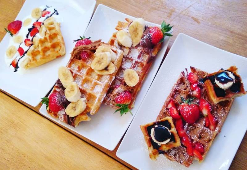 3 waffles at the bruges workshop